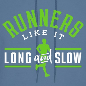 Runners Like It Long And Slow - Men's Hoodie