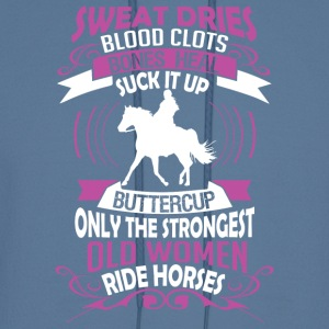 The Strongest Old Women Ride Horses T Shirt - Men's Hoodie