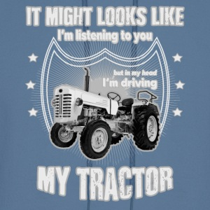 It might looks like listening driving TRACTOR grey - Men's Hoodie