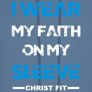 I wear my faith blue n white - Men's Hoodie