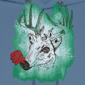 Green nosed Reindeer - Men's Hoodie