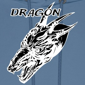 Wild_dragon_with_three_horns_black - Men's Hoodie