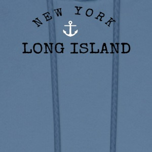 Long Island, New York Anchor - Men's Hoodie