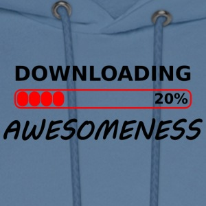 downloading awesomeness tshirt - Men's Hoodie