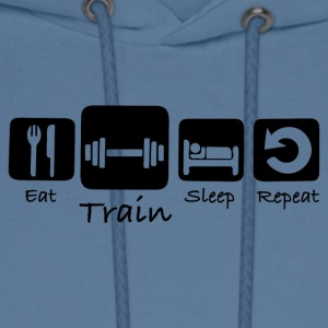 Eat Train Sleep Repeat - Men's Hoodie