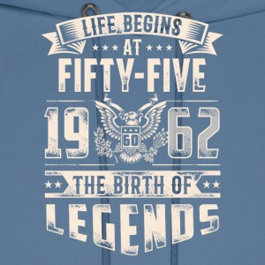 Life Begins At Fifty Five Tshirt - Men's Hoodie