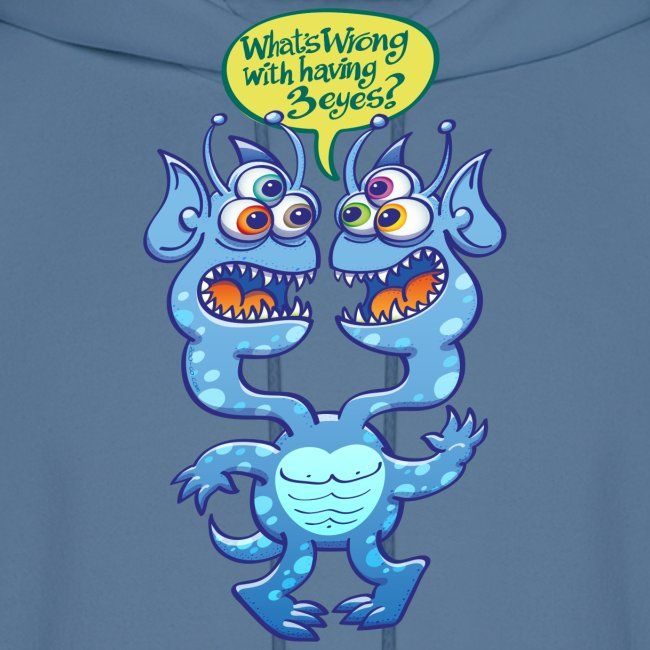 Weird alien wondering about having three eyes