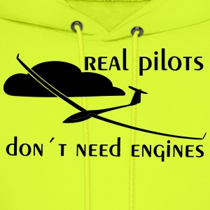 real pilots don´t need engines - Glider pilot - Men's Hoodie