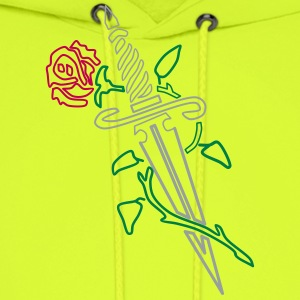 Rose with Knife - Men's Hoodie