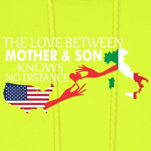 Mother & Son Love Knows No Distance US & Italy - Men's Hoodie