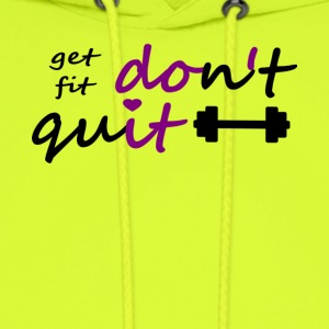 Dont Quit get fit printfile front - Men's Hoodie