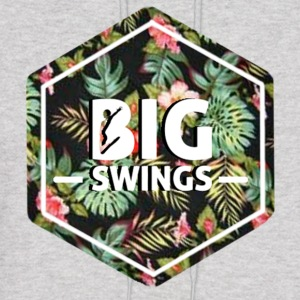 Big Swings Floral Design - Men's Hoodie