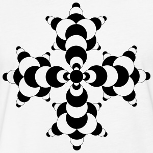 crop circles 21 - Fitted Cotton/Poly T-Shirt by Next Level