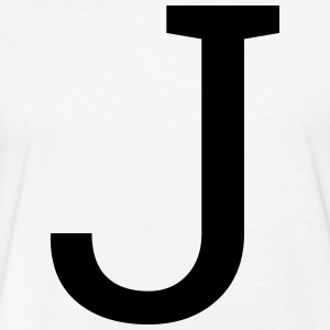 Letter J - Fitted Cotton/Poly T-Shirt by Next Level