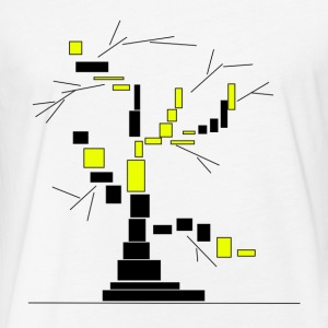 tree made from rectangles vector - Fitted Cotton/Poly T-Shirt by Next Level