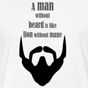 Beard Man - Fitted Cotton/Poly T-Shirt by Next Level