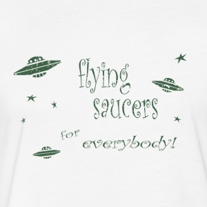 CE3_-_Flying_Saucers - Fitted Cotton/Poly T-Shirt by Next Level