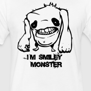 swety smiley monster - Fitted Cotton/Poly T-Shirt by Next Level