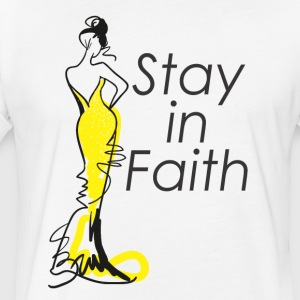 Stay in Faith - Fitted Cotton/Poly T-Shirt by Next Level
