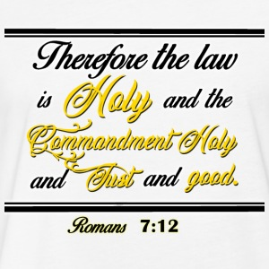Romans 7:12 - Fitted Cotton/Poly T-Shirt by Next Level