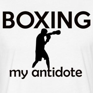 boxing design - Fitted Cotton/Poly T-Shirt by Next Level