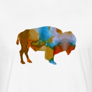 Bison - Fitted Cotton/Poly T-Shirt by Next Level