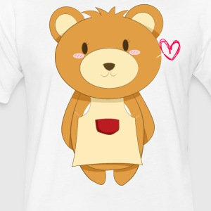 Love My Mama Bear - Fitted Cotton/Poly T-Shirt by Next Level