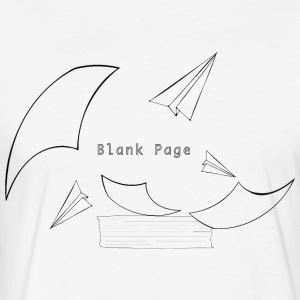 Blank Page Papers Flying - Fitted Cotton/Poly T-Shirt by Next Level