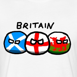 Britainballs - Fitted Cotton/Poly T-Shirt by Next Level