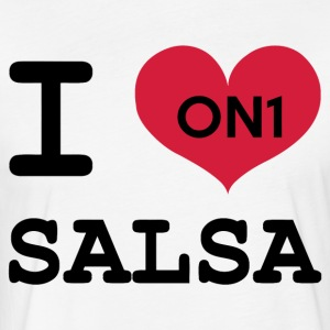 I Love Salsa On 1 - Fitted Cotton/Poly T-Shirt by Next Level