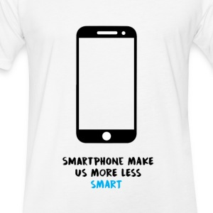 Smartphone VS Smart - Fitted Cotton/Poly T-Shirt by Next Level