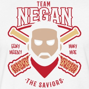 Negan Team Savior Eeny Meeny Miny Moe Baseball Shi - Fitted Cotton/Poly T-Shirt by Next Level