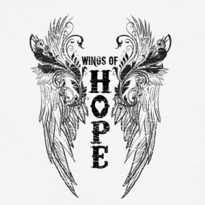 WINGS OF HOPE - Fitted Cotton/Poly T-Shirt by Next Level