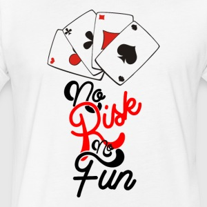 NO RISK NO FUN - Fitted Cotton/Poly T-Shirt by Next Level