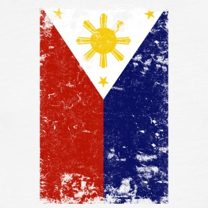 Filipino Vintage Distressed Philippines Flag - Fitted Cotton/Poly T-Shirt by Next Level