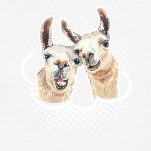 Llama Love Tee & Hoodie - Fitted Cotton/Poly T-Shirt by Next Level