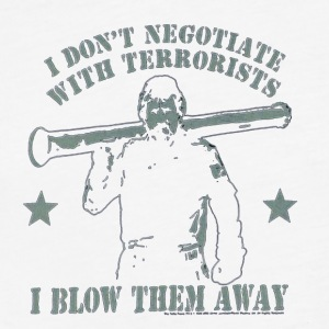 Never negotiate - Fitted Cotton/Poly T-Shirt by Next Level