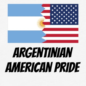 Argentinian American Pride - Fitted Cotton/Poly T-Shirt by Next Level