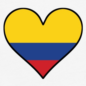 Colombian Flag Heart - Fitted Cotton/Poly T-Shirt by Next Level