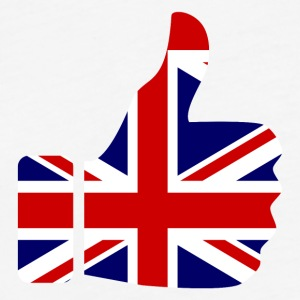 British Union Jack Flag Thumbs Up Symbol - Fitted Cotton/Poly T-Shirt by Next Level