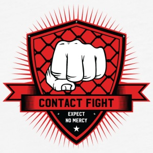 Contact Fight Classic - Fitted Cotton/Poly T-Shirt by Next Level