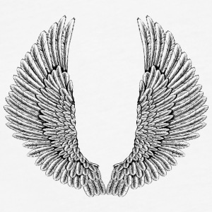 angelic-wings-vector - Fitted Cotton/Poly T-Shirt by Next Level