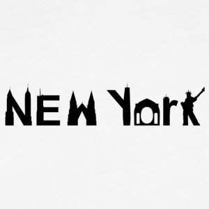 New York Skyline Black - Fitted Cotton/Poly T-Shirt by Next Level