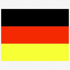 Germany Flag Wallpaper 6 - Fitted Cotton/Poly T-Shirt by Next Level