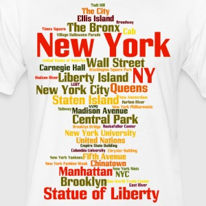 New York City (NY, NYC) - Fitted Cotton/Poly T-Shirt by Next Level
