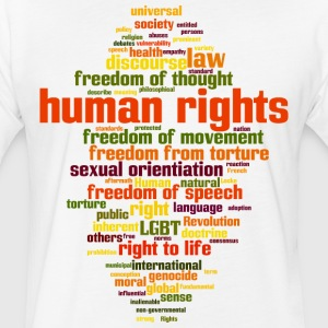 human rights - Fitted Cotton/Poly T-Shirt by Next Level