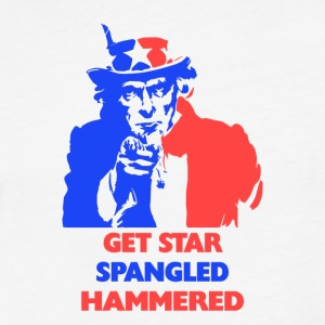 July 4th Get Star Spangled Hammered - Fitted Cotton/Poly T-Shirt by Next Level
