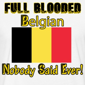 Belgian flag design - Fitted Cotton/Poly T-Shirt by Next Level