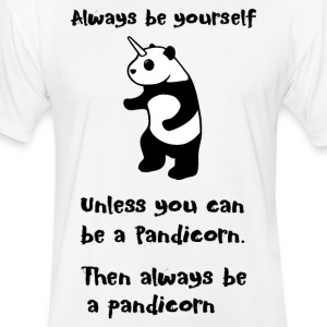 Always be Yourself Panda Pandicorn Funny - Fitted Cotton/Poly T-Shirt by Next Level