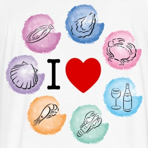 I love seafood - Fitted Cotton/Poly T-Shirt by Next Level